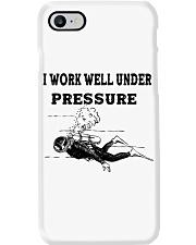 Scuba Diving i work well under pressure Phone Case tile