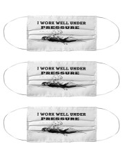 Scuba Diving i work well under pressure Cloth Face Mask - 3 Pack thumbnail