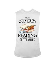 Never Underestimate Old Lady Reading September Sleeveless Tee thumbnail