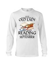 Never Underestimate Old Lady Reading September Long Sleeve Tee thumbnail