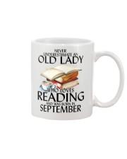 Never Underestimate Old Lady Reading September Mug thumbnail