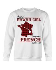 Just A Hawaii Girl In French Crewneck Sweatshirt thumbnail