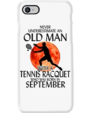 Old Man Tennis Racquet September Phone Case thumbnail
