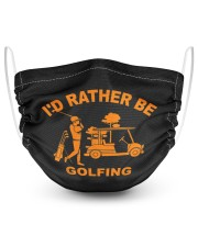 Cool i'd rather be golfing gift for golf 2 Layer Face Mask - Single front