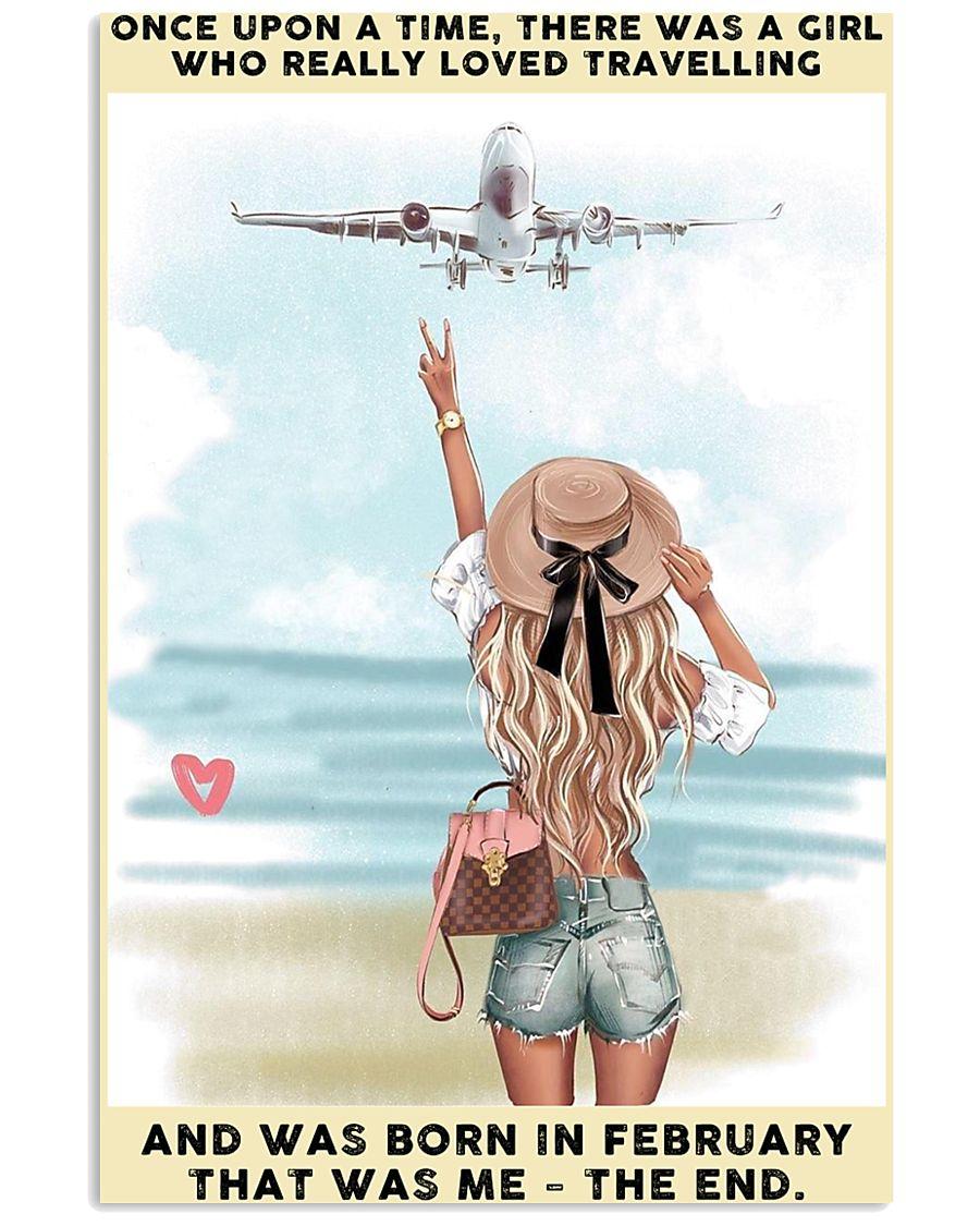 February Girl-Travelling 24x36 Poster