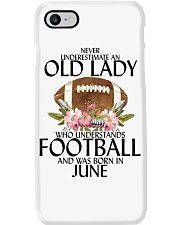 Never Underestimate Old Lady Football June Phone Case thumbnail