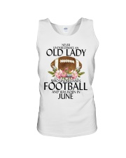 Never Underestimate Old Lady Football June Unisex Tank thumbnail