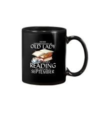Never Underestimate Old Lady Reading SeptembeBLack Mug thumbnail