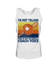 I'm Not Yelling This Is My Baseball Coach Voice Unisex Tank thumbnail