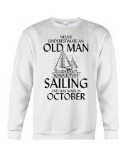 Never Underestimate Old Man Loves Sailing October Crewneck Sweatshirt thumbnail