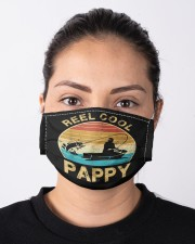 Mens reel cool pappy fishing men gifts father's  Cloth face mask aos-face-mask-lifestyle-01