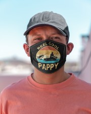 Mens reel cool pappy fishing men gifts father's  Cloth face mask aos-face-mask-lifestyle-06