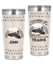Train I looked up Personalized Christmas Gift 20oz Tumbler front