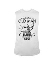 Never Underestimate Old Man Climbing  June Sleeveless Tee thumbnail