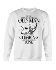Never Underestimate Old Man Climbing  June Crewneck Sweatshirt thumbnail