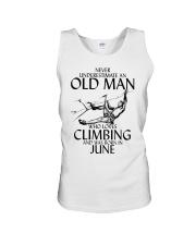 Never Underestimate Old Man Climbing  June Unisex Tank thumbnail