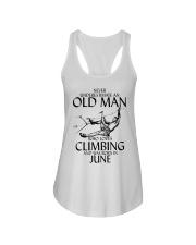 Never Underestimate Old Man Climbing  June Ladies Flowy Tank thumbnail