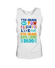 7th Grade Fun Look Out  8th Grade Here I Come Unisex Tank thumbnail