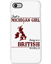 Just A Michigan Girl In-British Phone Case thumbnail