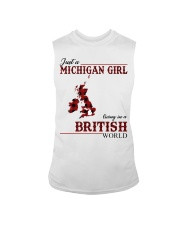 Just A Michigan Girl In-British Sleeveless Tee thumbnail