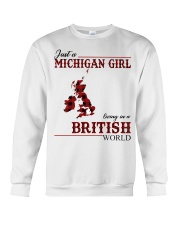 Just A Michigan Girl In-British Crewneck Sweatshirt thumbnail