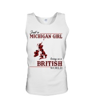 Just A Michigan Girl In-British Unisex Tank thumbnail