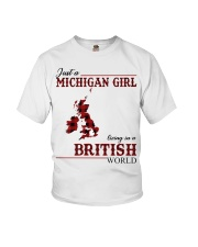 Just A Michigan Girl In-British Youth T-Shirt thumbnail