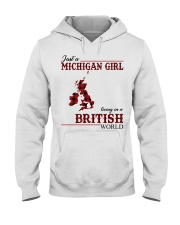 Just A Michigan Girl In-British Hooded Sweatshirt thumbnail