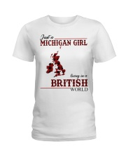 Just A Michigan Girl In-British Ladies T-Shirt thumbnail