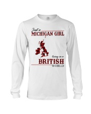 Just A Michigan Girl In-British Long Sleeve Tee thumbnail