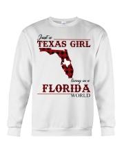 Just A Texas Girl In Florida World Crewneck Sweatshirt thumbnail
