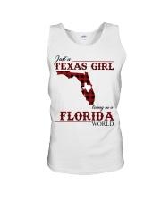 Just A Texas Girl In Florida World Unisex Tank thumbnail