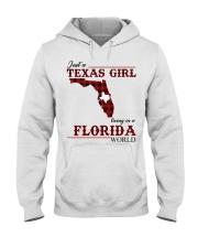 Just A Texas Girl In Florida World Hooded Sweatshirt thumbnail