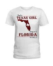 Just A Texas Girl In Florida World Ladies T-Shirt thumbnail