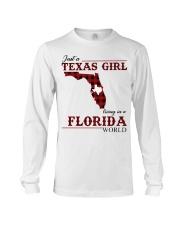 Just A Texas Girl In Florida World Long Sleeve Tee thumbnail