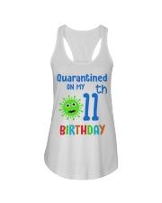 Quarantined On 11th My Birthday 11 years old Ladies Flowy Tank thumbnail