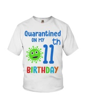 Quarantined On 11th My Birthday 11 years old Youth T-Shirt thumbnail