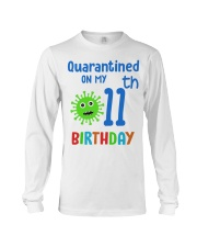 Quarantined On 11th My Birthday 11 years old Long Sleeve Tee thumbnail