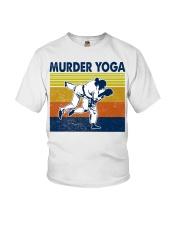 Jiu Jitsu Murder Yoga Youth T-Shirt tile