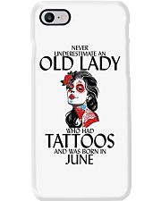 Never Underestimate Old Lady Tattoos June Phone Case thumbnail