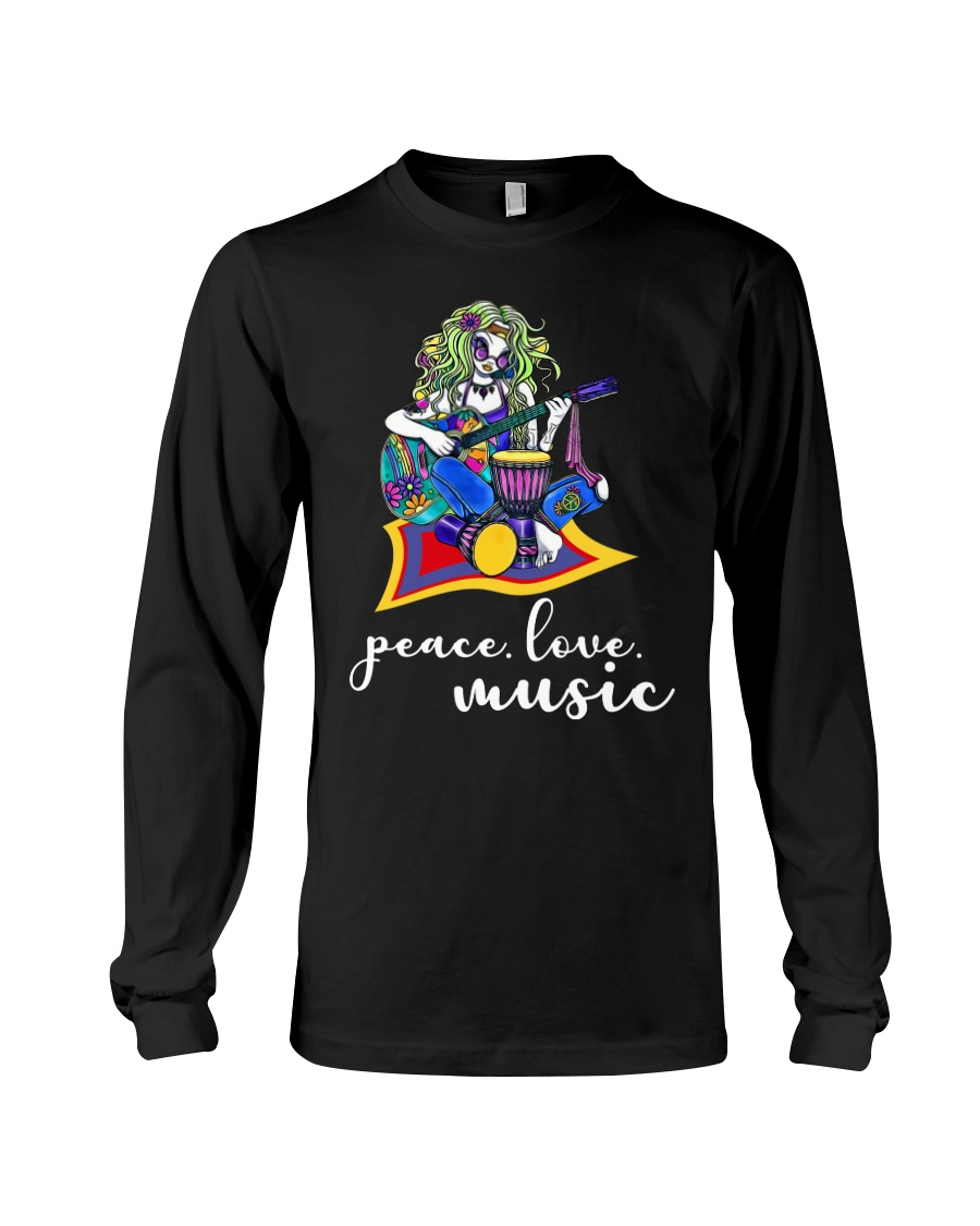 Peace Love Music Long Sleeve Tee