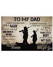 To My Dad From Son hunting 24x16 Poster front