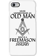 Never Underestimate Old Man Freemason January Phone Case thumbnail