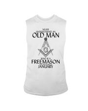 Never Underestimate Old Man Freemason January Sleeveless Tee thumbnail