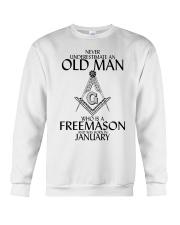 Never Underestimate Old Man Freemason January Crewneck Sweatshirt thumbnail