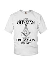 Never Underestimate Old Man Freemason January Youth T-Shirt thumbnail
