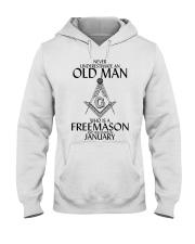 Never Underestimate Old Man Freemason January Hooded Sweatshirt thumbnail