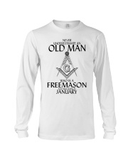 Never Underestimate Old Man Freemason January Long Sleeve Tee thumbnail