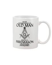 Never Underestimate Old Man Freemason January Mug thumbnail