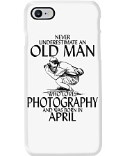 Never Underestimate Old Man Photography April Phone Case thumbnail